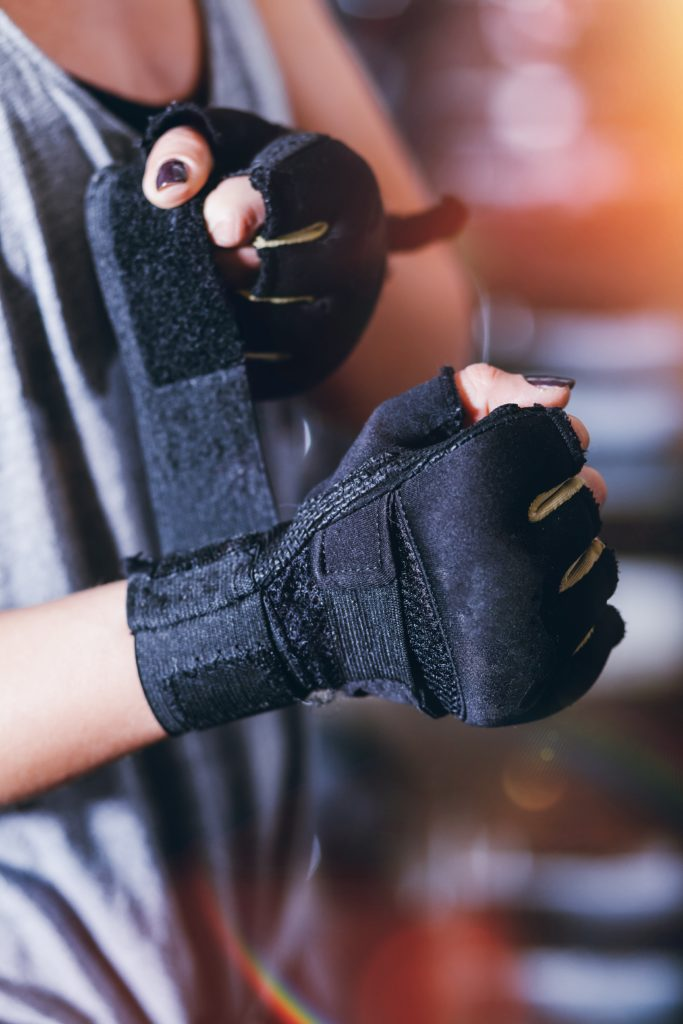 Gym gloves wear