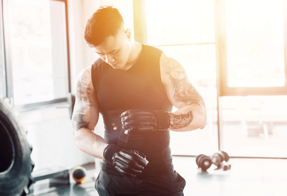 wearing gym gloves improve your grip